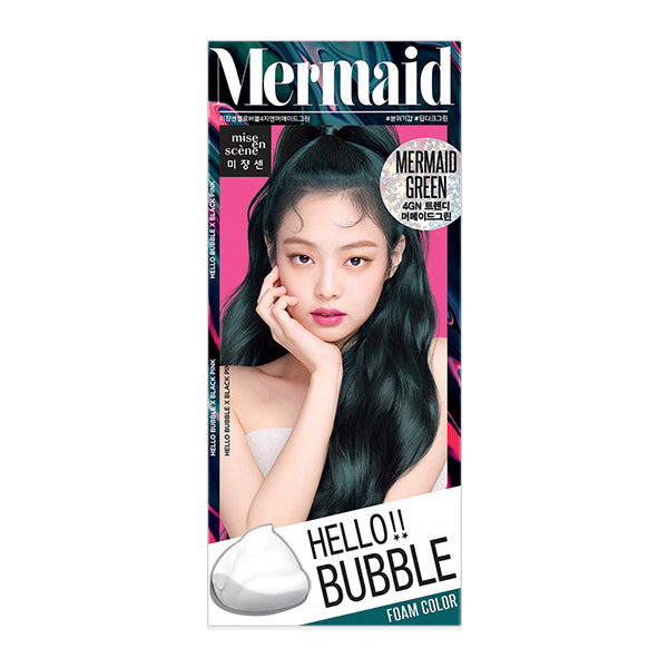 Mise En Scene Hello Bubble Hair Dye Mermaid Green - oo35mm