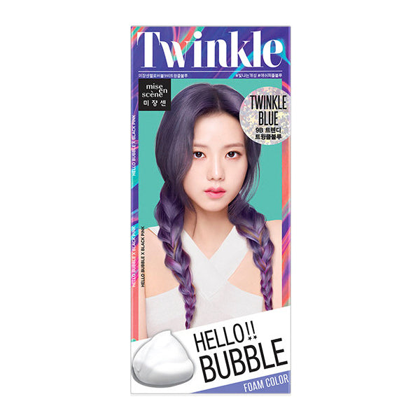 Mise En Scene Hello Bubble Hair Dye Twinkle Blue - oo35mm
