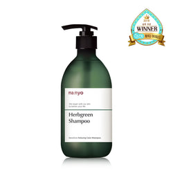 Manyo Factory Natural Hydrating Hair Shampoo - Herbgreen - oo35mm