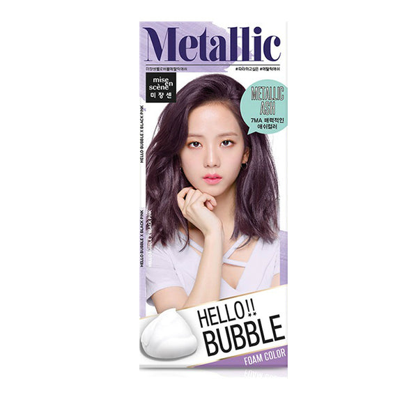 Mise En Scene Hello Bubble Hair Dye Metallic Ash - oo35mm