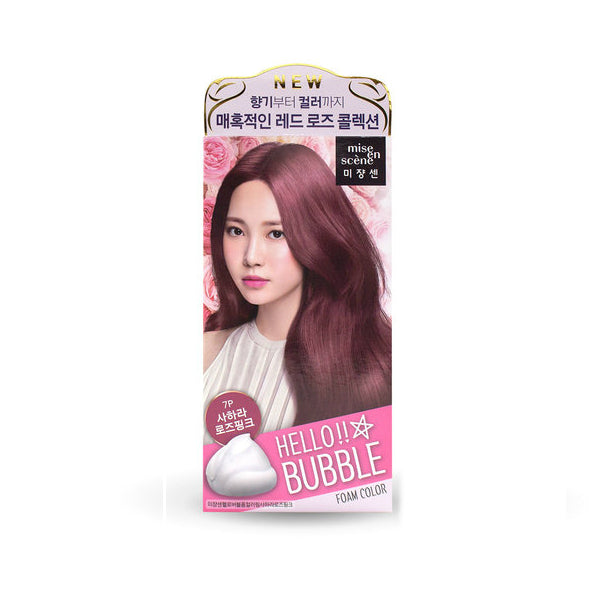 Mise En Scene Hello Bubble Hair Dye Sahara Rose Pink - oo35mm