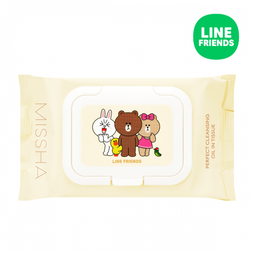 Missha Super Aqua Perfect Cleansing Oil In Tissue (Line Friends Edition) - oo35mm