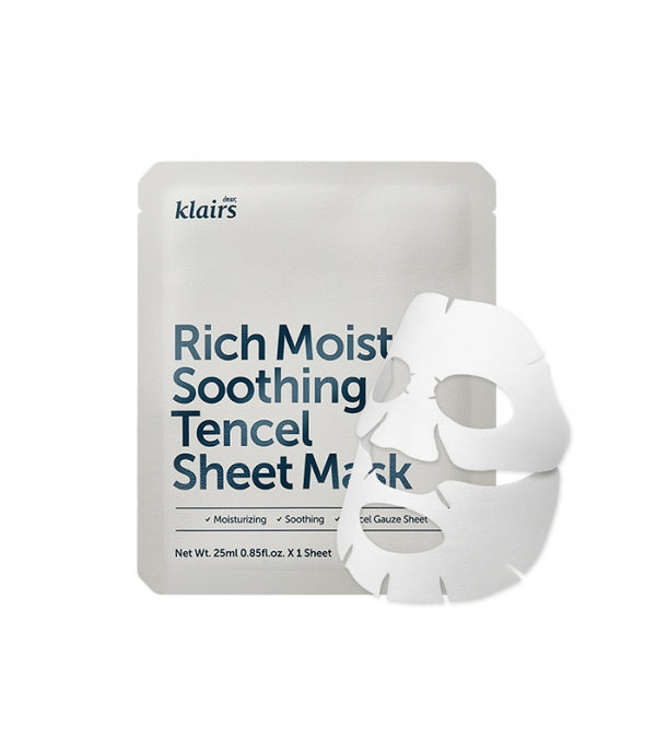 Dear Klairs Rich Moist Soothing Tencel Sheet Mask