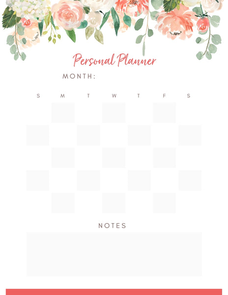 Personal Planner - Monthly