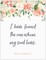 The One My Soul Loves - Wall Art