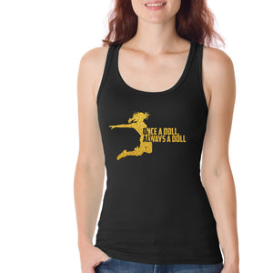 Bring It! Live - Doll Tank Top (Gold Glitter)