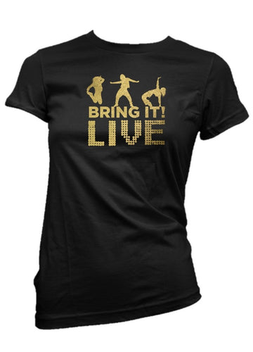 Bring It! Live - T-Shirt (Gold Foil)