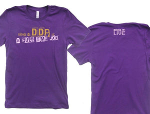 Bring It! Live - DDP T-Shirt (Gold Glitter) (ADULT)