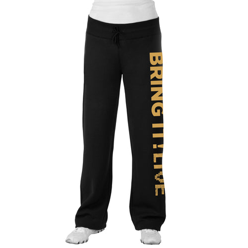 Bring It! Live - Dance Pants (Gold Glitter)