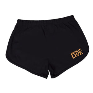 Bring It! Live - Dance Shorts (Gold Glitter)
