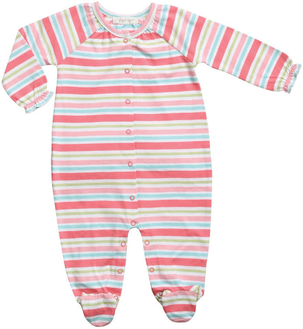 Angel Dear Stripe Footed Onesie
