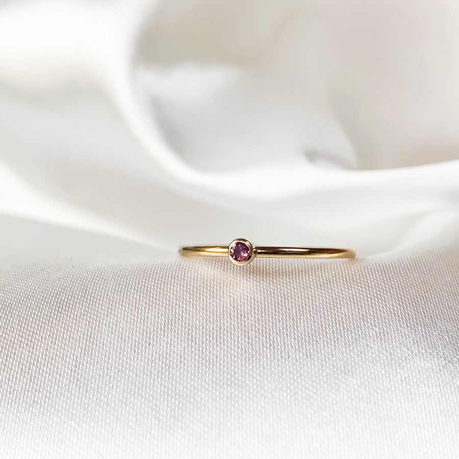 October Birthstone Ring - Pink Tourmaline - Lunar James