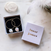 Halo Gold Hoops - Lunar James