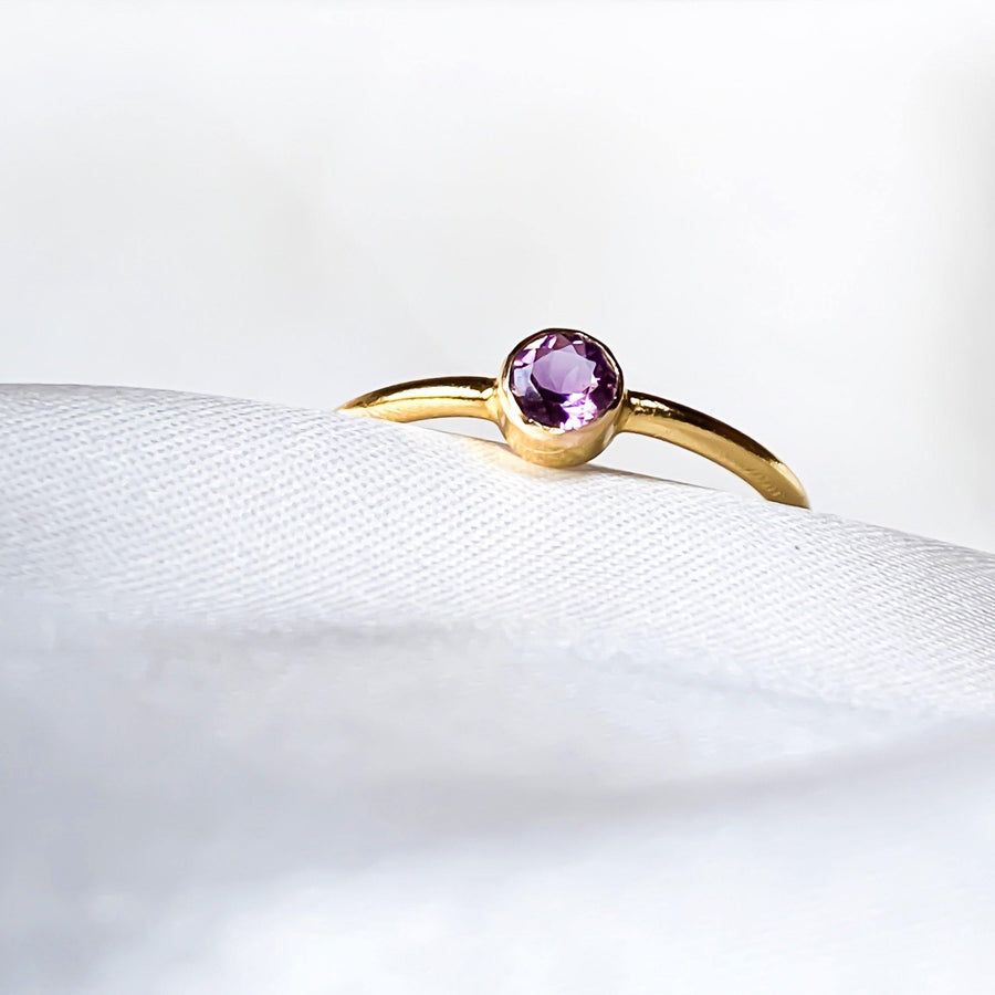 February Birtstone Ring - Amethyst - Lunar James