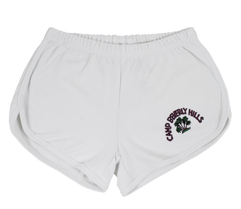 Roxburry White Running Shorts