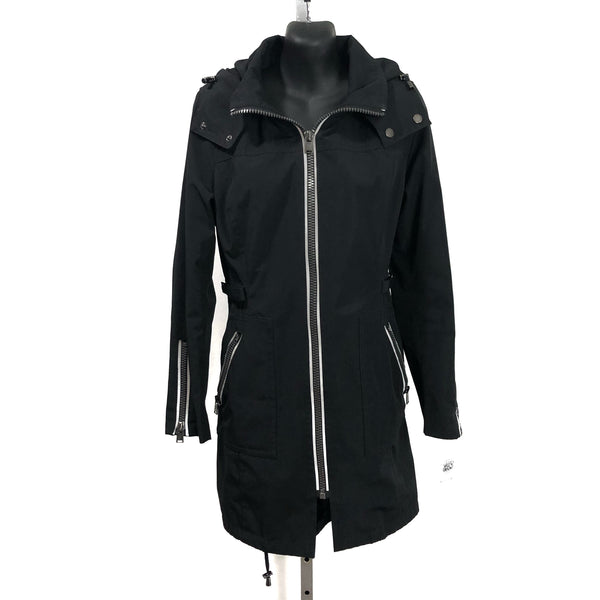PENDLETON XS/ Tall Petites Black Zip Up RAIN TRENCH Coat