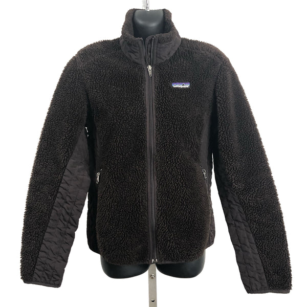Patagonia Brown Teddy Bear Zip Up Long Sleeve Fleece