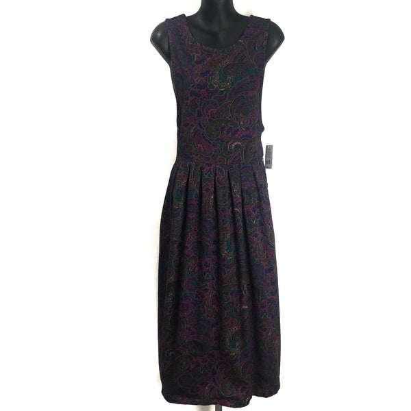 Vintage Pierre Cardin 100% Cotton Paisley Jumper Dress