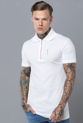 Unforgivable Clothing - Envy Polo Shirt - White & Gold