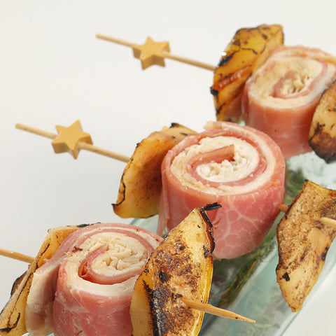 Ham and Cheese Rolls help with Star Toothpicks