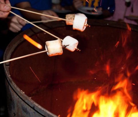 Roasting Marshmallows on Wooden Skewers
