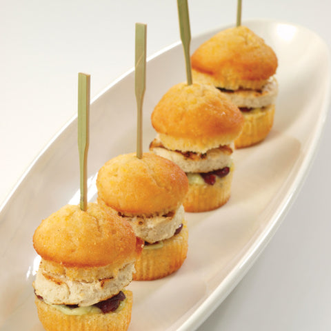 Square skewers are perfect for slippery foods