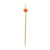 Orange Ball Bamboo Skewers - 6 Inch