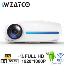 Load image into Gallery viewer, WZATCO C2 4K Full HD 1080P LED Projector Android 9.0 Wifi Smart Home Theater Video Proyector with Digital keystone correction