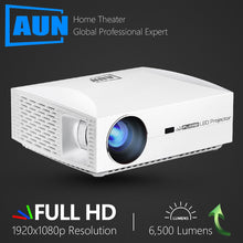 Load image into Gallery viewer, AUN Full HD Projector F30UP, 1920x1080P. Android 6.0 (2G+16G) WIFI, LED MINI Projector for Home Theater, Support 4K video Beamer