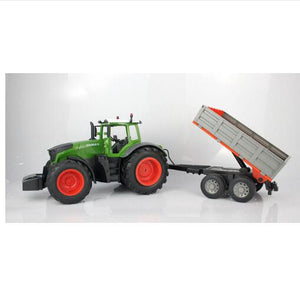 RC Truck  Farmer car  Tractor 2.4G Remote Control Trailer Dump/Rake 1:16 High Simulation Scale Construction Vehicle Children Toy