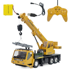 Load image into Gallery viewer, 8CH Simulation RC CraneToys with Music and Light Children's Boys RC Truck Toys Gifts 1:24 Wireless Aolly RC Engineering Car