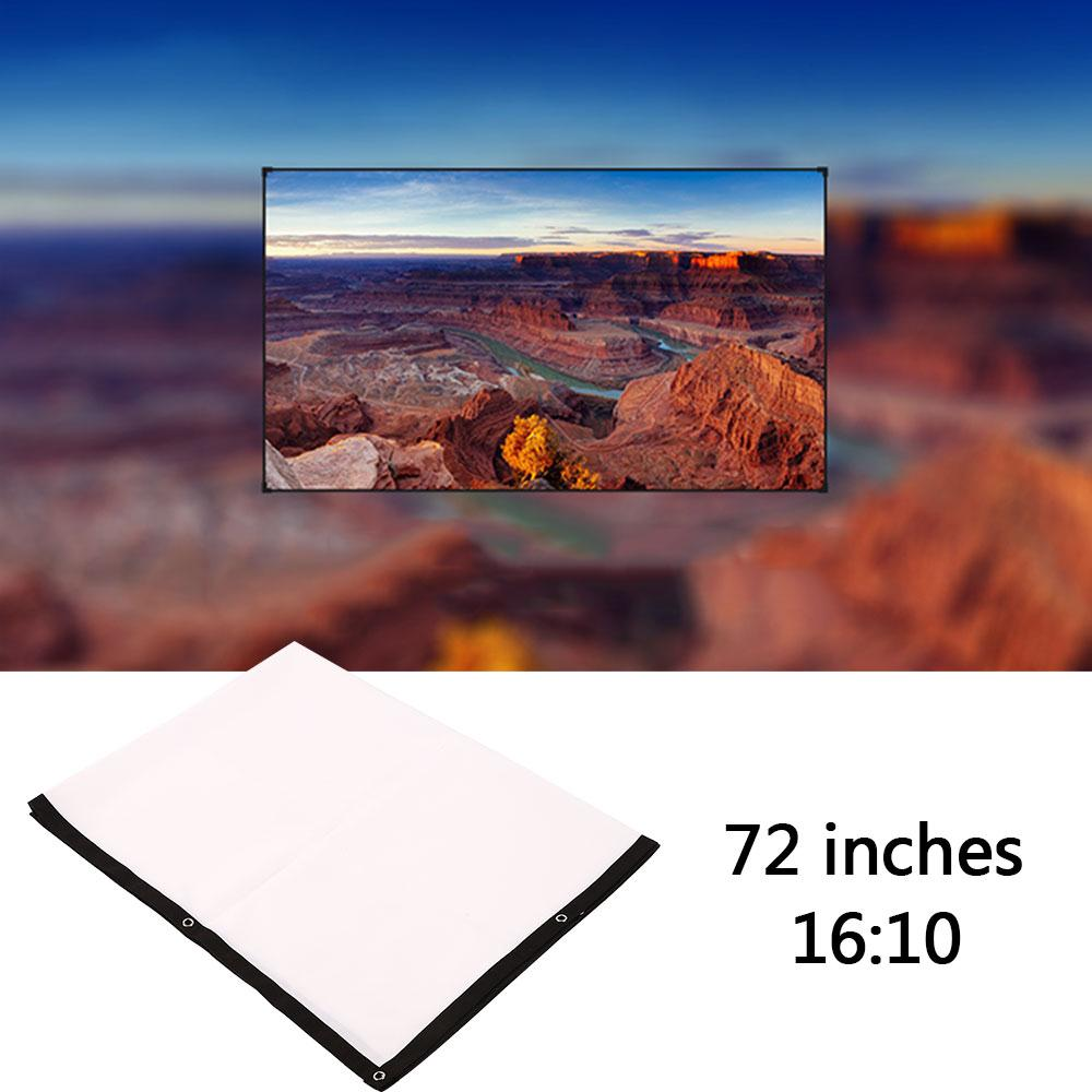 Portable 72 inch 16:10 Projector White Projection Screen For HD Projector Home Cinema Theater Movie Party Indoor Outdoor