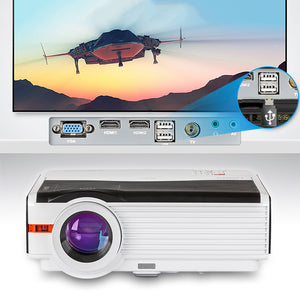 CAIWEI LCD LED Projetor Multimedia HD 1080P Video Proyector Home Theater Entertainment Outdoor Camping Movies HDMI VGA USB