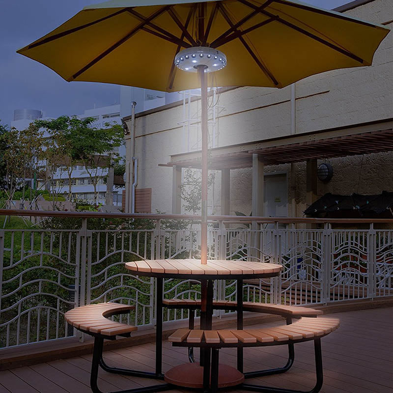 Newly Cantilever Patio Umbrella Light Outdoor Cantilever Pool Cordless Stand Deck Light Table Camping XSD88