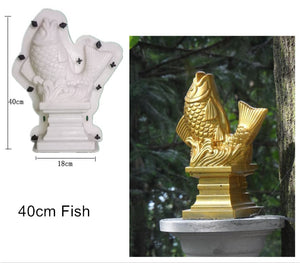 ABS GRC Cute DIY Die Casting Interlock Buckle Cement/ Concrete Villa/ Home /Balcony Gardening Animal Statue & Plant Molds