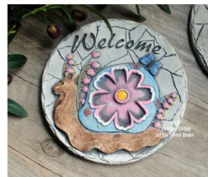 Hand-painted courtyard garden small foot pedal cement decorative stepping stone decoration culpture statue
