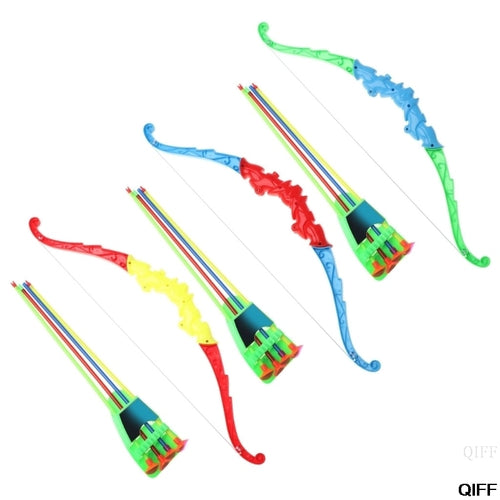 Drop Ship&Wholesale Outdoor Sports Archery Toy Bow With 4Pcs Soft Arrows Kids Toy Game Activity May06