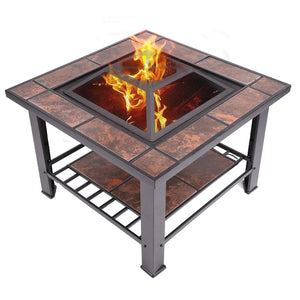 outdoor fireplace outdoor fire pit table  barbecue grill table