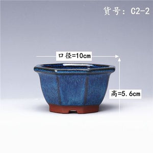 Succulent Plants Flower Pot Simple Creative Ceramic Flower Pots Purple Sand Breathable Office Balcony Decor Planter Pots ZM21