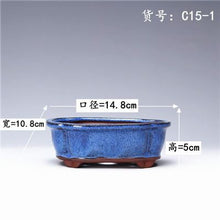 Load image into Gallery viewer, Succulent Plants Flower Pot Simple Creative Ceramic Flower Pots Purple Sand Breathable Office Balcony Decor Planter Pots ZM21