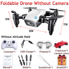 Load image into Gallery viewer, S9 S9W S9HW Foldable RC Mini Drone Pocket Drone Micro Drone RC Helicopter With HD Camera Altitude Hold Wifi FPV FSWB