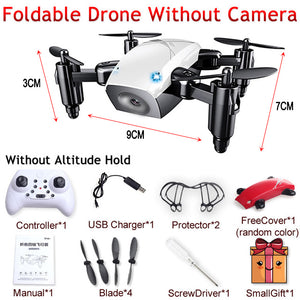 S9 S9W S9HW Foldable RC Mini Drone Pocket Drone Micro Drone RC Helicopter With HD Camera Altitude Hold Wifi FPV FSWB