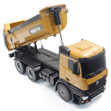 Load image into Gallery viewer, HUINA 1573 1/14 10CH Alloy RC Dump Trucks Toy Engineering Construction Remote Control Car Vehicle Toy RTR RC Truck Gift for Boys