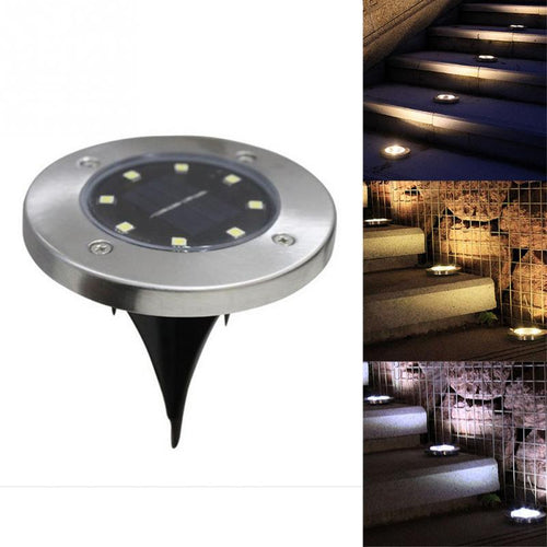 8-LED Buried Solar Power Light Under Ground Lamp Outdoor Path Way Garden Lamp Led Night Light