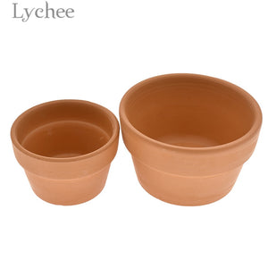 Lychee Terracotta Flower Pot Clay Ceramic Succulents Planter Home Desktop Pot Garden Supplies