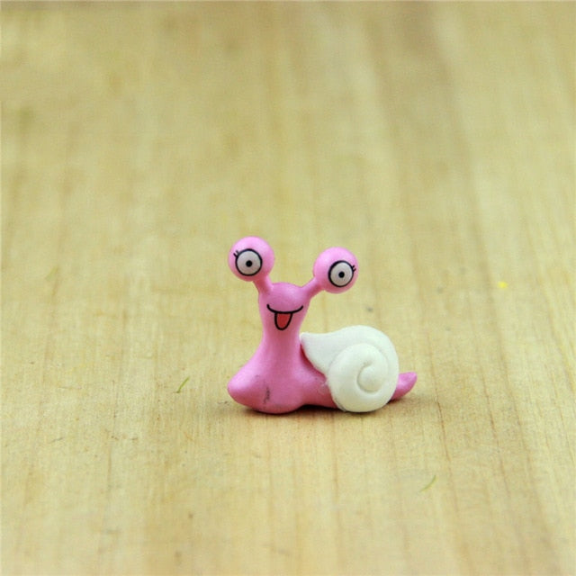 5PCS Miniature Snail Figurine Decor Fairy Garden Dollhouse Ornament DIY home decoration accessories Tools Supplies Figurine