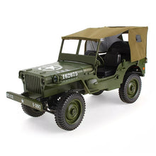 Load image into Gallery viewer, JJRC Q65 1:10 RC Car 2.4G 4WD Convertible Remote Control Light Jeep Four-Wheel Drive Off-Road Military Climbing Car Toy Kid Gift