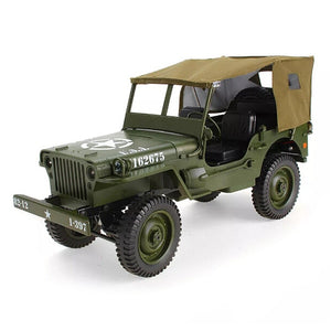 JJRC Q65 1:10 RC Car 2.4G 4WD Convertible Remote Control Light Jeep Four-Wheel Drive Off-Road Military Climbing Car Toy Kid Gift