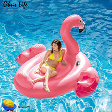 Load image into Gallery viewer, 150/ 190cm Swimming Pool Inflatable Giant Pink Flamingo Swimming Laps Float Island Water Toys Pool Fun Raft Water Party Toys New