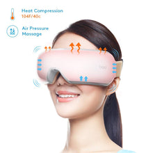 Load image into Gallery viewer, Breo iSee4 Electric Portable Eye Massager with Heating Air Pressure Music Vibration, Shiatsu Massager for Dry Eye Eyestrain Fatigue Relief